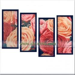 Розите - картина от четири части