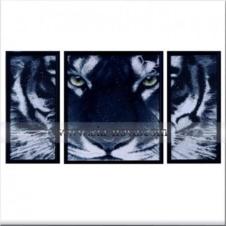Big Black Tiger - picture triptych